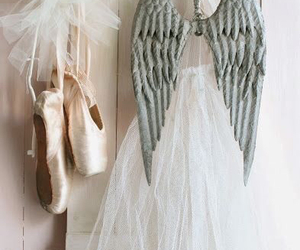 pink, Angel Wings, and ballerina image