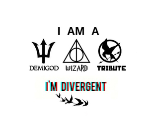 divergent, percy jackson, and harry potter image