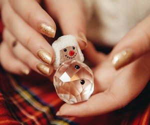 christmas, snowman, and nails image