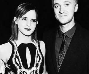 draco malfoy, emma watson, and hermione granger image