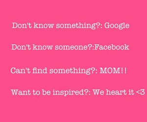 facebook, google, and mom image