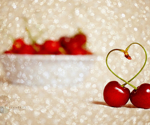 cherry, heart, and love image