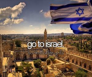 bucket list, travel, and israel image