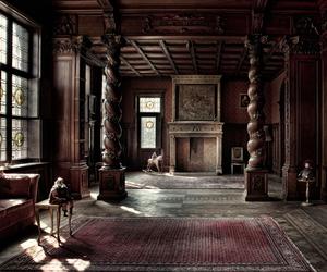interior, manor, and mansion image