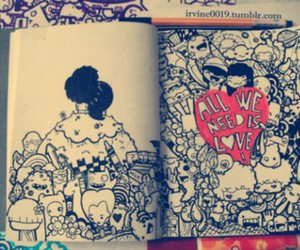 love, draw, and drawing image