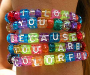 colorful, bracelet, and colors image