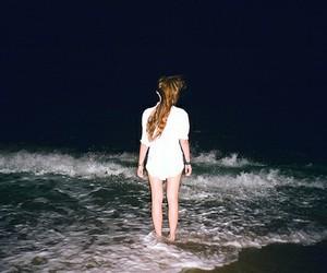 girl, sea, and night image