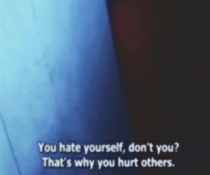 hate, hurt, and quote image