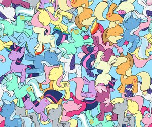 pony, background, and pattern image
