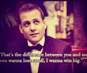 harvey specter, quote, and suits image