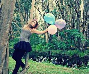 balloons, photography, and girl image