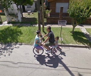 bicycle and google street view image