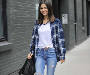beautiful, blue, and victoria justice image