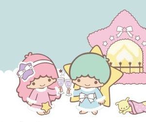 sanrio, snow, and little twin stars image