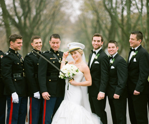 bride, Marines, and military image