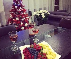 christmas, fruit, and tree image