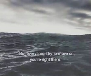 quote, sad, and sea image