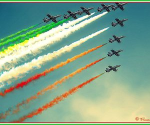 airplanes, italia, and airshow image