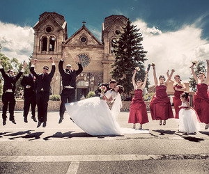 army, bride, and groom image