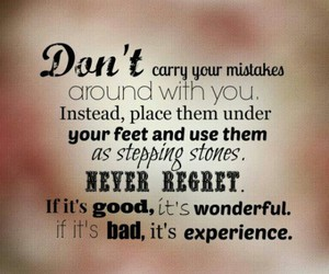 experience, mistakes, and regrets image