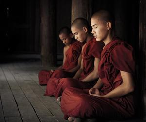 meditation, Buddhist, and monks image