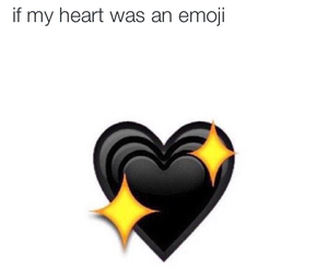 black, black heart, and heart image