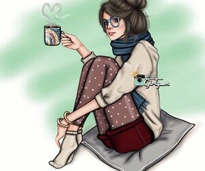 girly_m, art, and coffee image