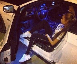 car, girl, and air max image