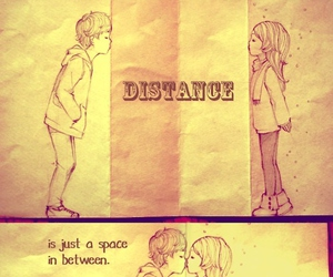 distance, draw, and love image