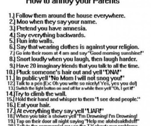 parents, funny, and annoy image