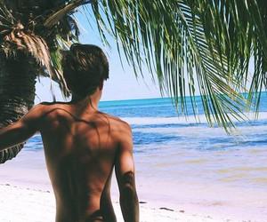 boy, beach, and summer image