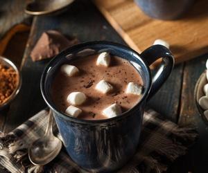 chocolate, hot chocolate, and winter image