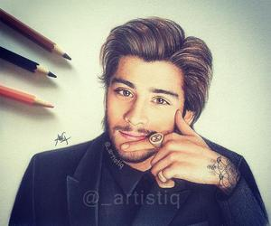 zayn malik, one direction, and drawing image