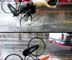 accident, bike, and funny image