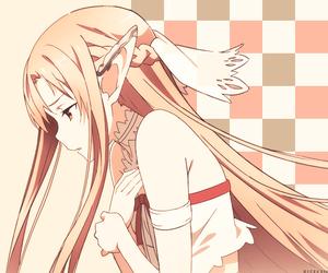 asuna, sword art online, and sao image