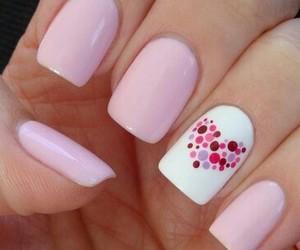 nails, pink, and heart image