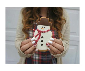 christmas, red, and snowman image