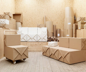 box, furniture, and Paper image