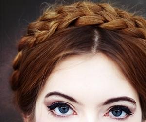 hair, eyes, and braid image
