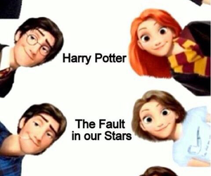 harry potter, tangled, and hunger games image