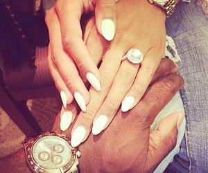 nails, couple, and love image