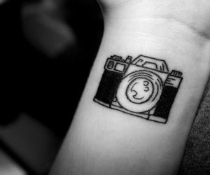 camera, girl, and tatto image