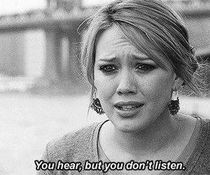 quote, listen, and Hilary Duff image