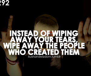 quote, text, and tears image