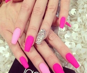 pink nails and nail design image