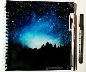 drawing, sky, and art image