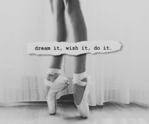 b&w, dance, and motivation image