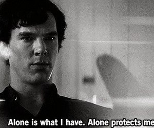 sherlock, alone, and benedict cumberbatch image