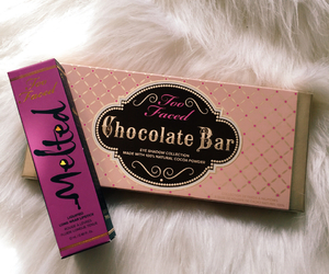 chocolate bar, eyeshadow, and makeup image