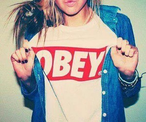 obey, girl, and style image